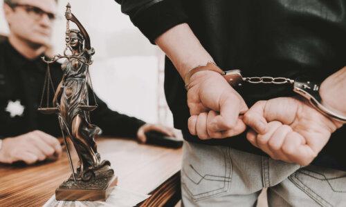 Handcuffed Criminal